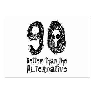90 mejor que el cumpleaños divertido Q90 de la Tarjeta De Negocio