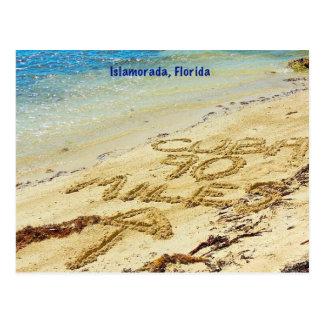 90 miles to Cuba Islamorada Florida Keys Postcard