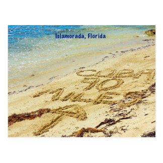 90 millas a Cuba Islamorada la Florida cierran la Tarjetas Postales