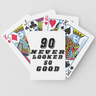 90 never looked so good bicycle playing cards