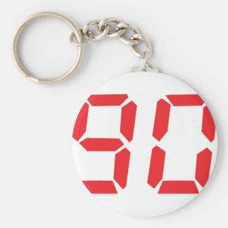 90 noventa números digitales del despertador del r llavero