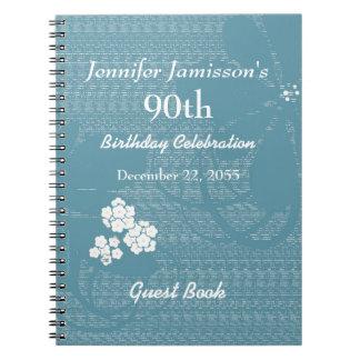 90.o Azul del libro de visitas de la fiesta de Note Book