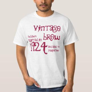 90.o Blanco rojo 1924 del Brew del vintage del Playeras
