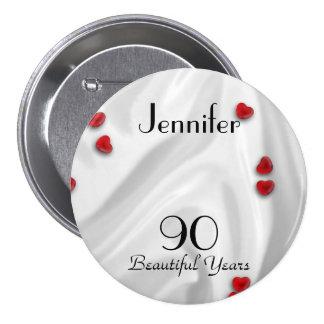 90.o Botón/Pin, pequeños corazones rojos del Pin Redondo De 3 Pulgadas