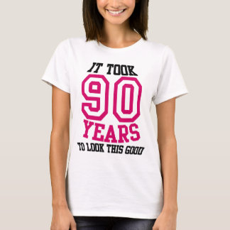 90.o CAMISETA del cumpleaños