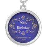 90.o Collar del cumpleaños - colgante del marco de