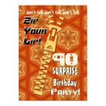 90.o Cremallera del cumpleaños de la sorpresa su Anuncio