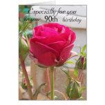 90.o cumpleaños color de rosa rosado felicitacion