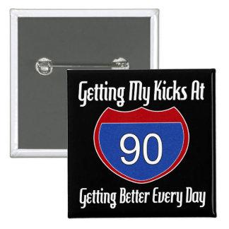 90.o cumpleaños de la ruta 66 pin cuadrado
