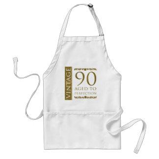 90.o cumpleaños del vintage de lujo delantal