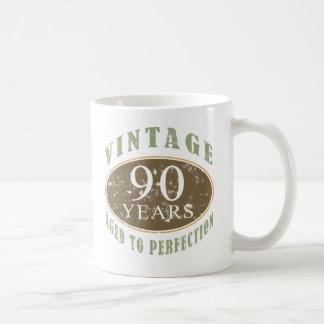 90.o cumpleaños del vintage tazas