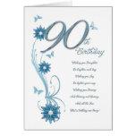 90.o cumpleaños en trullo con las flores y la mari tarjetón