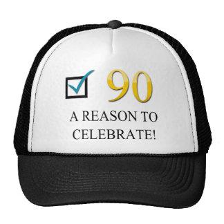 90.o cumpleaños feliz gorro de camionero