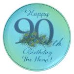 90.o cumpleaños feliz - placas personalizadas el plato