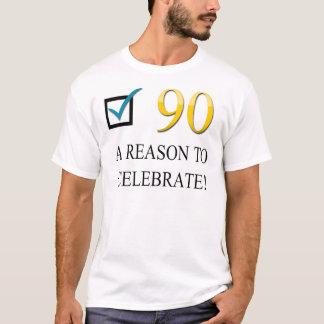 90.o cumpleaños feliz playera
