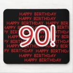 90.o cumpleaños feliz tapetes de ratones