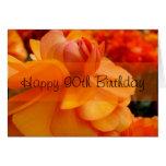 90.o cumpleaños feliz tarjeta