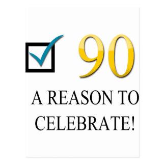 90.o cumpleaños feliz tarjetas postales