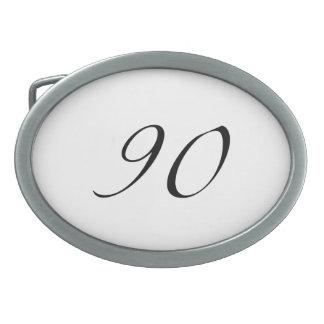 90.o Cumpleaños Hebilla De Cinturón Oval