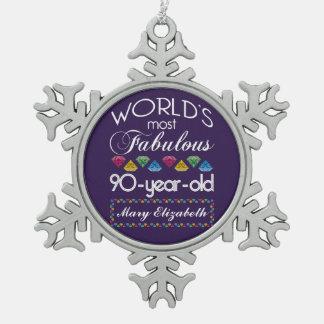 90 o Cumpleaños la mayoría de las gemas coloridas Adornos