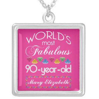90.o Cumpleaños la mayoría del rosa colorido Grimpolas Personalizadas