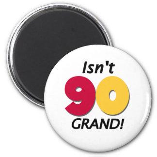 90 o cumpleaños magnífico imanes de nevera
