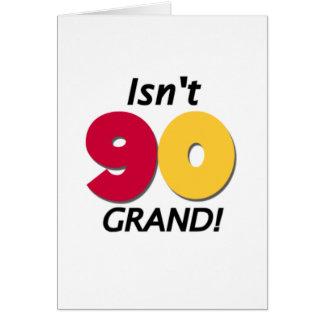 90.o cumpleaños magnífico tarjeta de felicitación