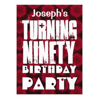 90 o cumpleaños moderno que da vuelta a ochenta es comunicado