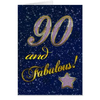 90.o cumpleaños para alguien fabuloso tarjeta de felicitación
