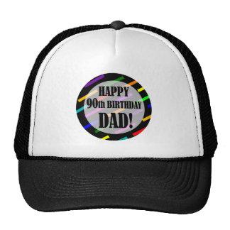 90.o Cumpleaños para el papá Gorras