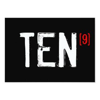 90.o cumpleaños - perfeccione la invitación diez invitación 12,7 x 17,8 cm