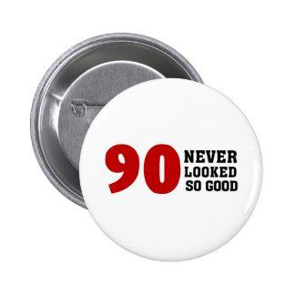 90.o Cumpleaños Pin Redondo De 2 Pulgadas