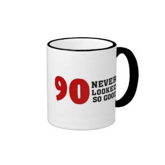 90.o Cumpleaños Taza De Dos Colores