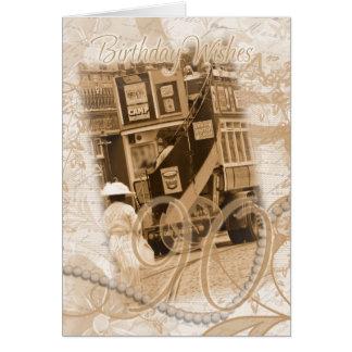 90.o cumpleaños - vintage, nostalgia, cumpleaños tarjeta de felicitación