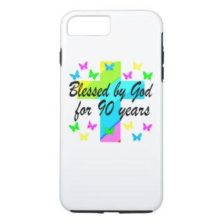 90.o DISEÑO del REZO del CUMPLEAÑOS del CRISTIANO Funda iPhone 7 Plus