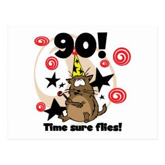 90.o El tiempo vuela cumpleaños Tarjetas Postales