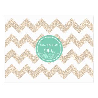 90.o Fiesta de cumpleaños - ahorre la fecha - Tarjeta Postal