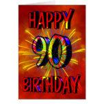 90.o Fuegos artificiales del cumpleaños Felicitaciones
