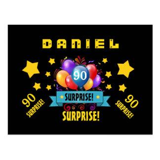 90.o Globos y estrellas festivos B407 del Postales