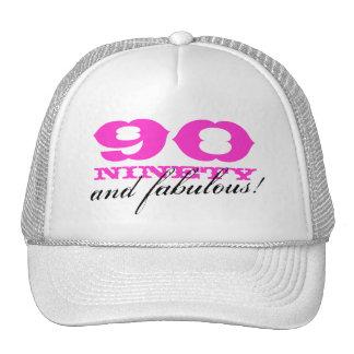 90.o ¡Gorra el | 90 del cumpleaños y fabuloso! Gorro De Camionero