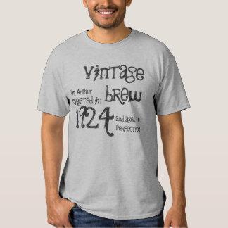 90.o Gris 1924 del Brew del vintage del regalo de Playera