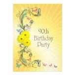 90.o Invitación de la fiesta de cumpleaños con las