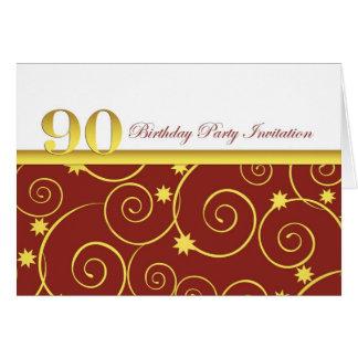 90.o Invitación de la fiesta de cumpleaños Tarjeton
