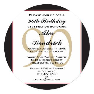 90.o Invitación del cumpleaños