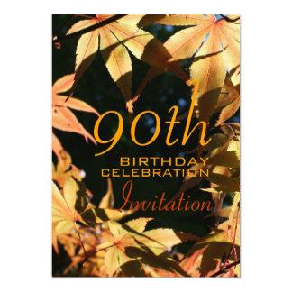 90.o Invitación del personalizado del otoño de la