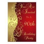 90.o Invitación personalizada de la fiesta de