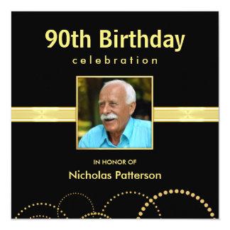 90.o Invitaciones de la fiesta de cumpleaños - Invitación 13,3 Cm X 13,3cm