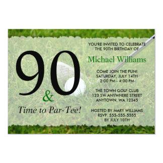 """90.o Invitaciones de la fiesta de cumpleaños del Invitación 5"""" X 7"""""""