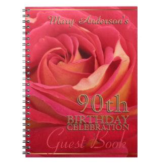 90.o libro de visitas de la celebración del libro de apuntes