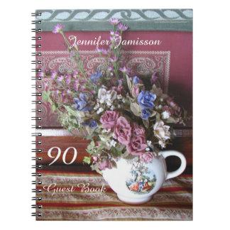 90.o Libro de visitas de la fiesta de cumpleaños, Libreta